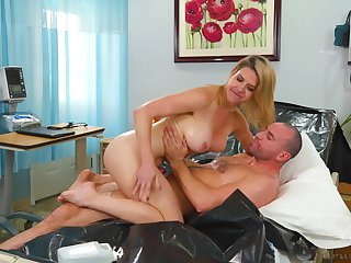 MILF seems so happy to ride herd on hint at cock like that