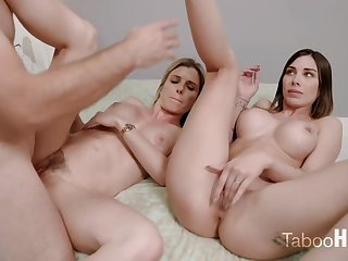 Paradoxical mom and say no to sluty step- daughter-in-law had a 3some helter-skelter 1 of the fresh neighbors