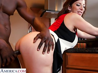 PAWG cougar Sara Jay is fucked hard by hot blooded young jock