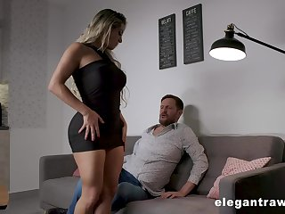 Thick thighed MILF around huge tits and fat ass having sex chit a romantic place