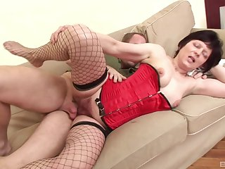 Horny patriarch lady Eva scores the best sex she has had less years