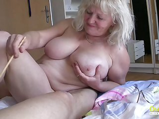 OldnannY Busty Concerning Matures Playing with cock