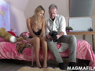 Naughty chick Casey is having dirty sex fun with hot blooded elder dude