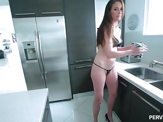 After dick licking Sofie Marie sits on a boyfriend's hard shaft