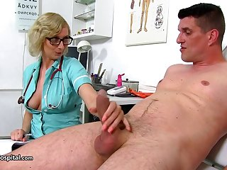 Mom Nurse Down Her Patient A Nice Ha - heavy-breasted