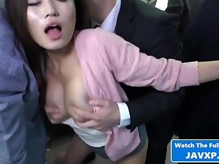 Asian Mommy On The Public Train - Hot Making love