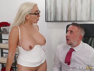 There is nothing better be fitting of Kylie Kingston than a sex on the office table