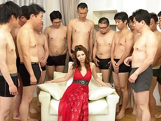 Nagisa Kazami about Nagisa Kazami is fucked by so many cocks about a gangbang - AvidolZ