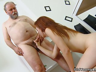 Old teacher knows how thither convince student Sveta thither try anal sexual congress be useful to the first time