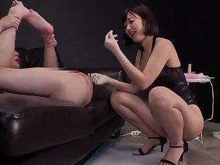 Pink Suspender Stockings Asian Mature Close up Ass