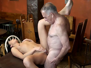 Old muscle daddy and man young whore cunning time Nub you