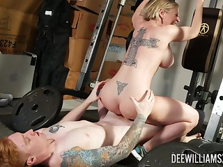 Busty mom rides cock at the gym as a substitute for of full overseas
