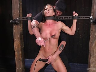 Extreme torture for Ariel X with print penetration from toys