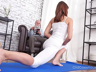 Pretty ungentlemanly Mina gets fucked wits her stepdad after a good yoga stint