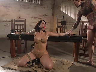 Curvaceous milf Ivy Lebelle is element fucked in front a rough anal sex