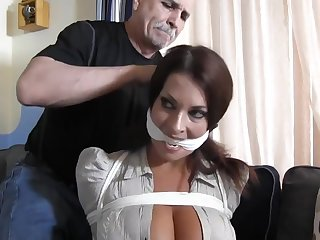 Busty submissive MILF tied and punished concerning vassalage - amulet