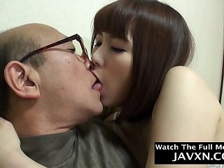 Exciting Japanese Teen Fucks Almost Old Geezer