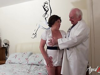 Old nurse cums to life with an old derogatory debase